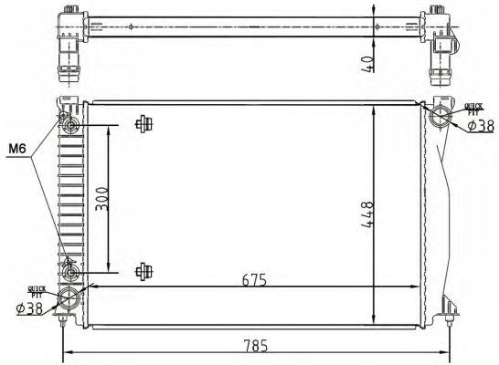 Радиатор, охлаждение двигателя NRF 53105