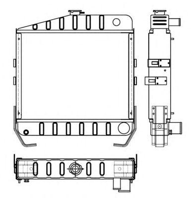 Радиатор, охлаждение двигателя NRF 53657