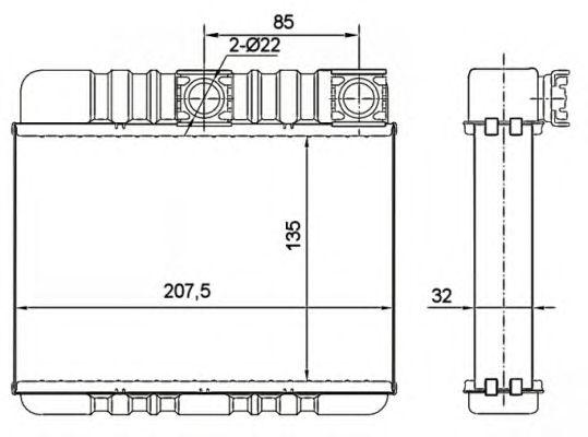 Радиатор отопителя NRF 54277