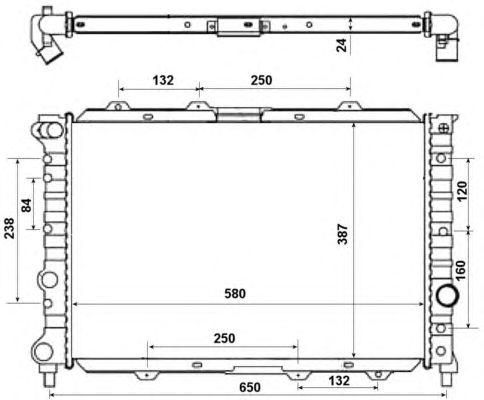 Радиатор, охлаждение двигателя NRF 58202