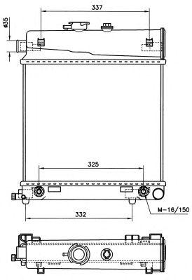 Радиатор, охлаждение двигателя NRF 58232