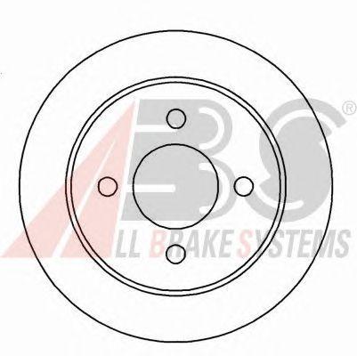 Тормозной диск A.B.S. 15813