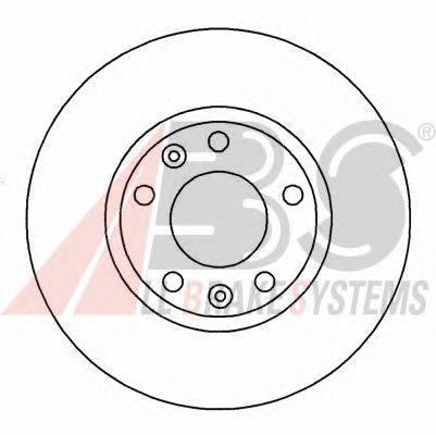 Тормозной диск A.B.S. 16185