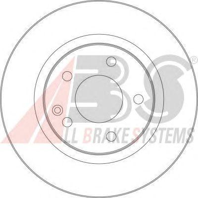 Тормозной диск A.B.S. 17365