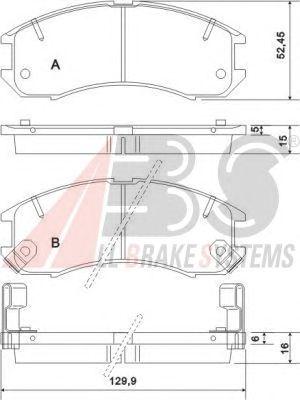 Тормозные колодки A.B.S. 36666