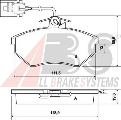 Тормозные колодки A.B.S. 36811