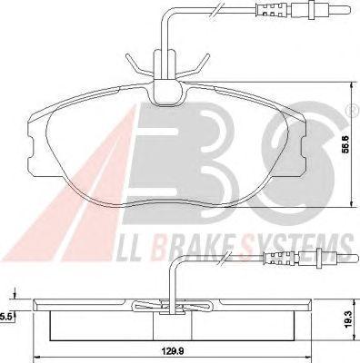 Тормозные колодки A.B.S. 36899