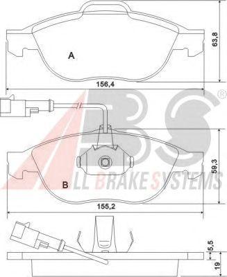 Тормозные колодки A.B.S. 37064