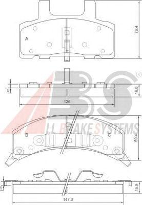 Тормозные колодки A.B.S. 38369
