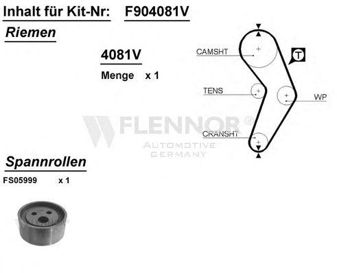 Комплект ремня ГРМ FLENNOR F904081V