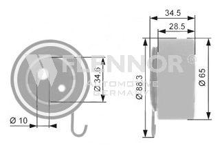 Натяжной ролик ремня ГРМ FLENNOR FS04107