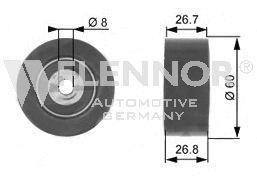 Натяжной ролик поликлинового ремня FLENNOR FS22994