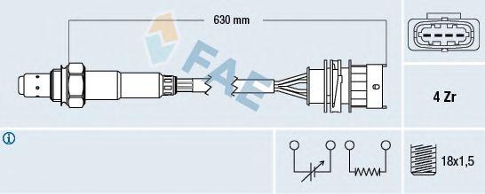 Лямбда-зонд FAE 77156