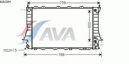 Радиатор, охлаждение двигателя AVA QUALITY COOLING AIA2084