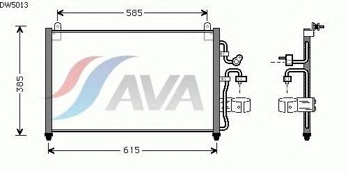 Радиатор кондиционера AVA QUALITY COOLING DW5013