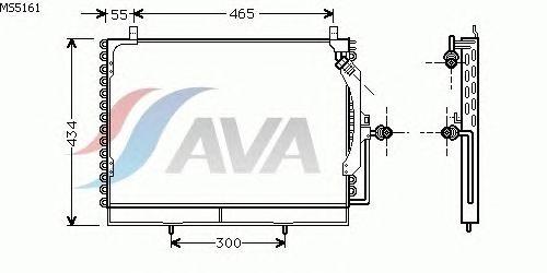 Радиатор кондиционера AVA QUALITY COOLING MS5161
