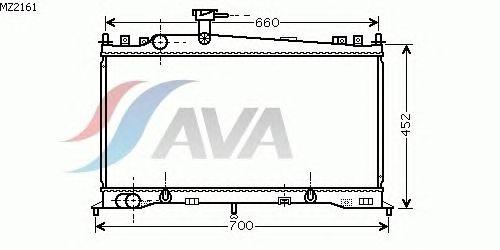 Радиатор, охлаждение двигателя AVA QUALITY COOLING MZ2161