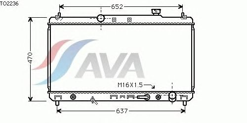 Радиатор, охлаждение двигателя AVA QUALITY COOLING TO2236