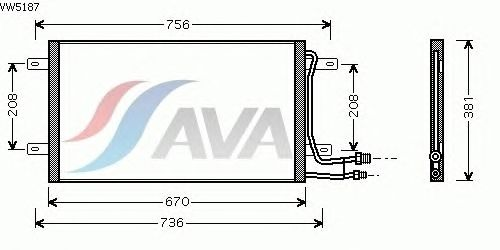 Радиатор кондиционера AVA QUALITY COOLING VW5187
