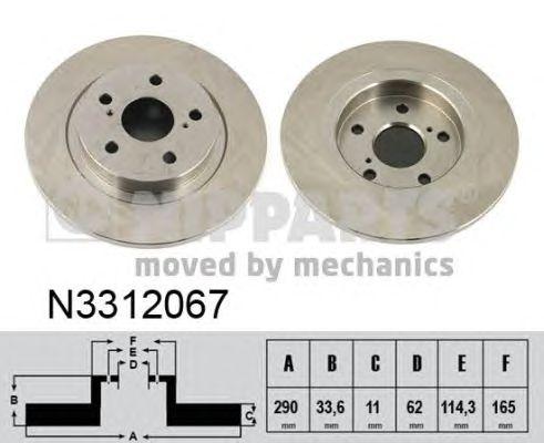 Тормозной диск NIPPARTS N3312067