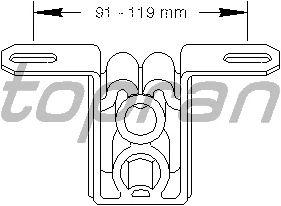 Кронштейн глушителя TOPRAN 104 401