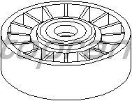 Натяжной ролик поликлинового ремня TOPRAN 400 008