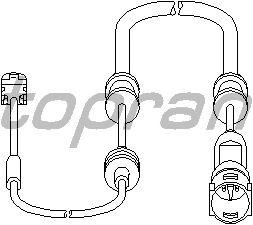 Датчик, износ тормозных колодок TOPRAN 206 946