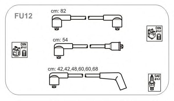 Комплект высоковольтных проводов JANMOR FU12
