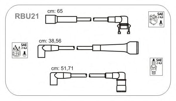 Комплект высоковольтных проводов JANMOR RBU21