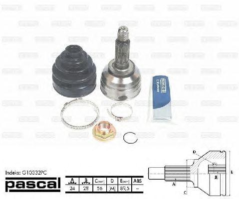 Комплект ШРУСов PASCAL G10332PC