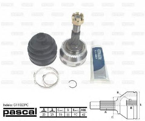 Комплект ШРУСов PASCAL G11023PC