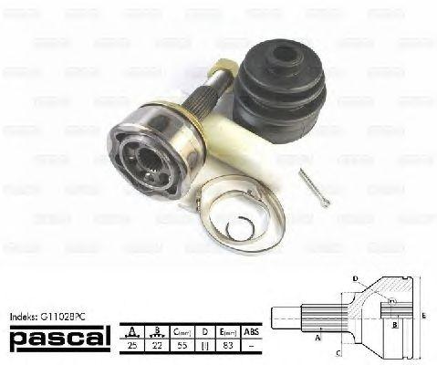 Комплект ШРУСов PASCAL G11028PC