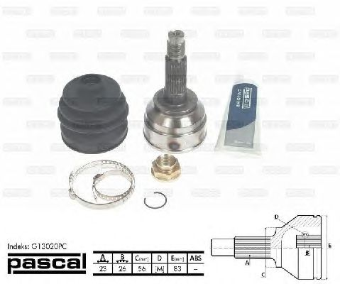 Комплект ШРУСов PASCAL G13020PC