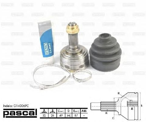 ШРУС PASCAL G14006PC