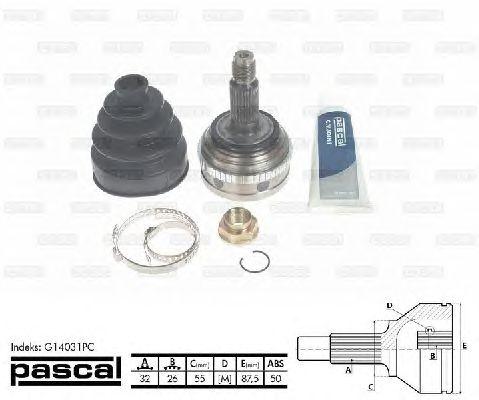 Комплект ШРУСов PASCAL G14031PC