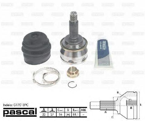 Комплект ШРУСов PASCAL G17018PC