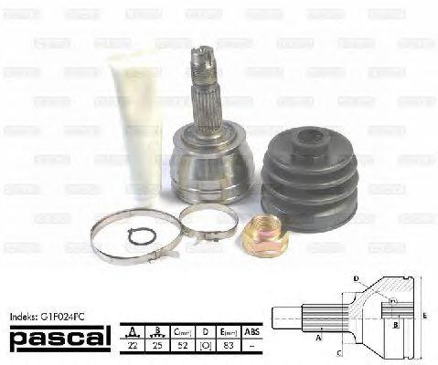 Комплект ШРУСов PASCAL G1F024PC