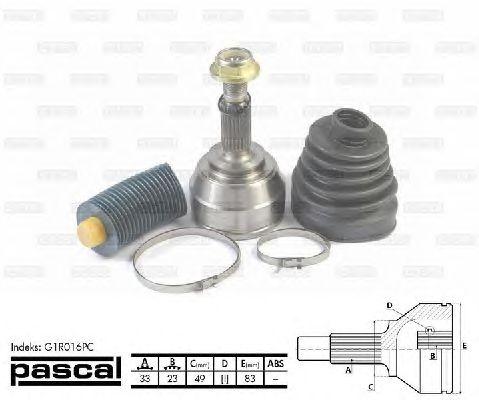 Комплект ШРУСов PASCAL G1R016PC