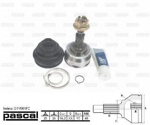Комплект ШРУСов PASCAL G1V001PC