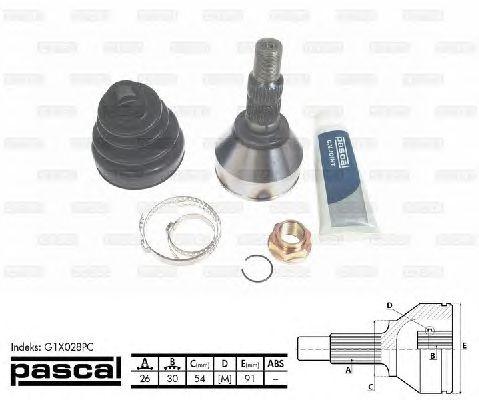 Комплект ШРУСов PASCAL G1X028PC