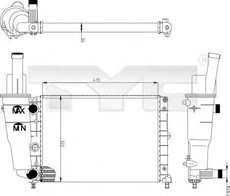 Радиатор, охлаждение двигателя TYC 709-0004