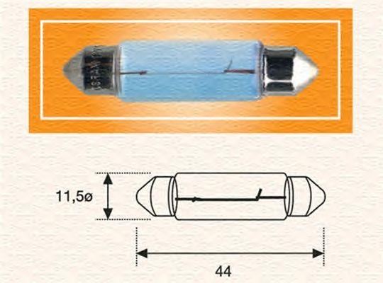 Лампа накаливания MAGNETI MARELLI 009461200000 (фонарь освещения номерного знака, внутреннее освещение)