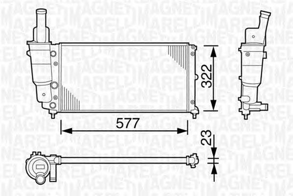 Радиатор, охлаждение двигателя MAGNETI MARELLI 350213114003