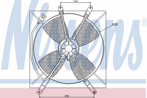 Вентилятор охлаждения NISSENS 85533