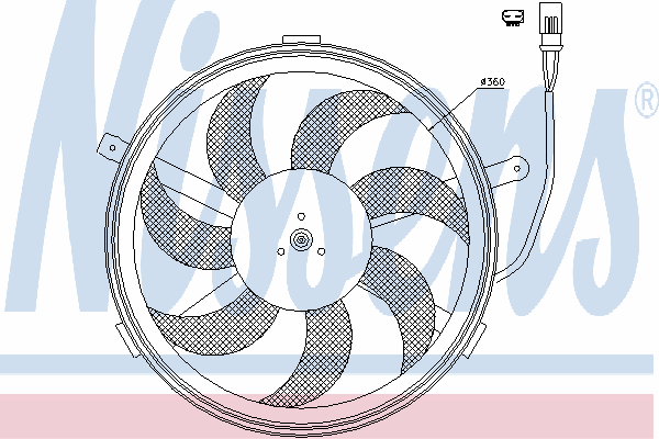 Вентилятор охлаждения NISSENS 85632
