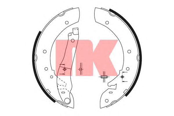 Тормозные колодки NK 2737390