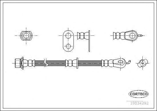 Тормозной шланг CORTECO 19034292