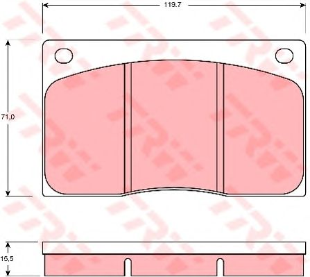 Тормозные колодки TRW GDB585