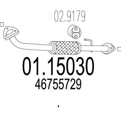 Труба выхлопного газа MTS 01.15030