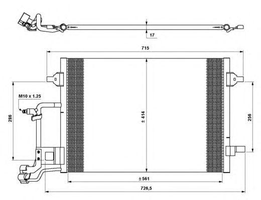 Радиатор кондиционера NRF 35642